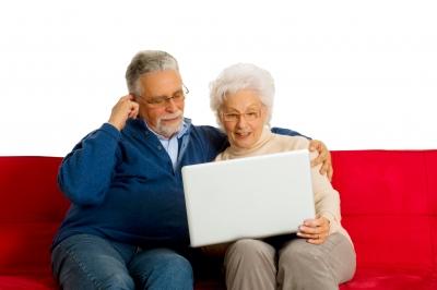 Senior Couple on Social Media