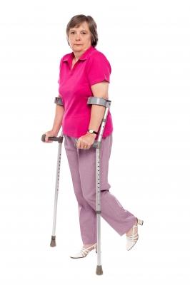 Senior Woman on Crutches_freedigitalphotos.net-stockimages